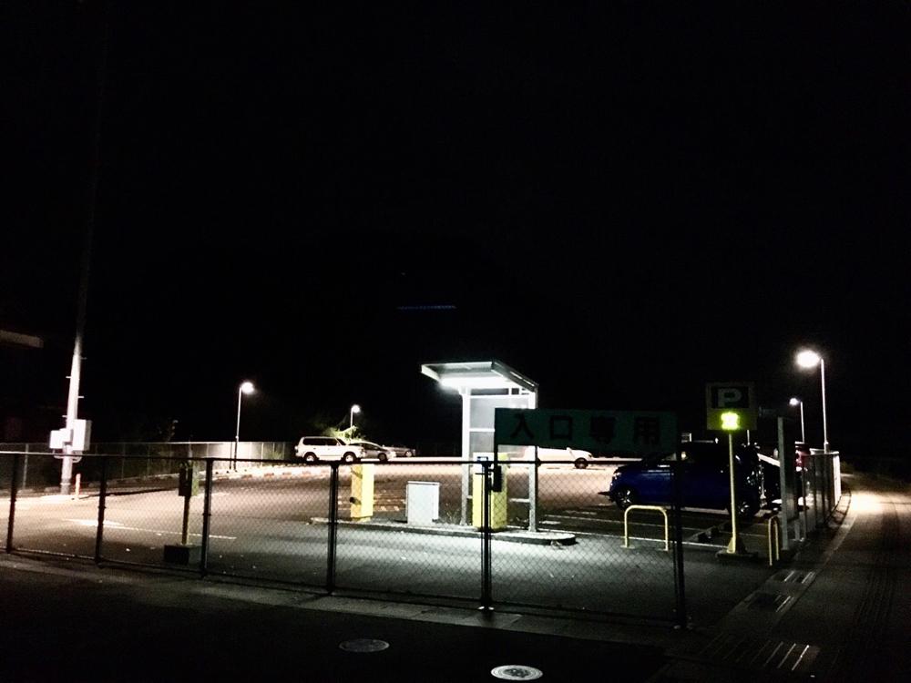 AM3:30頃の瀬戸港のもう一つの駐車場(パチンコ屋側)
