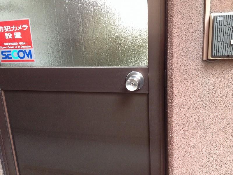 ドアノブ式の鍵の写真