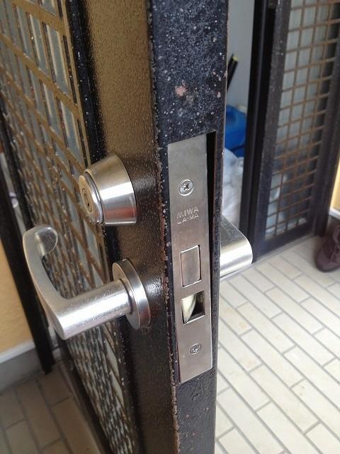 取付不良の鍵修繕1
