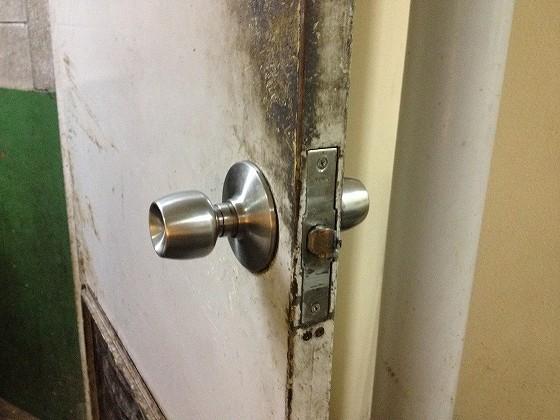 修繕後の錠前