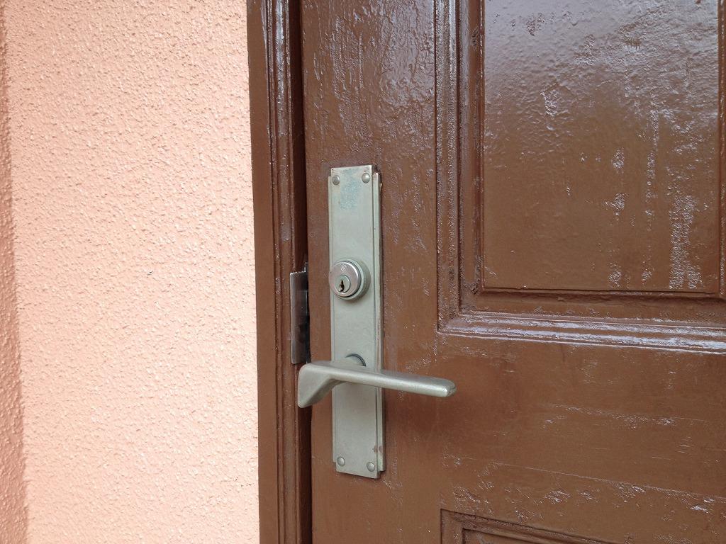 ヤマハ製ドアの錠前(鍵穴部分)