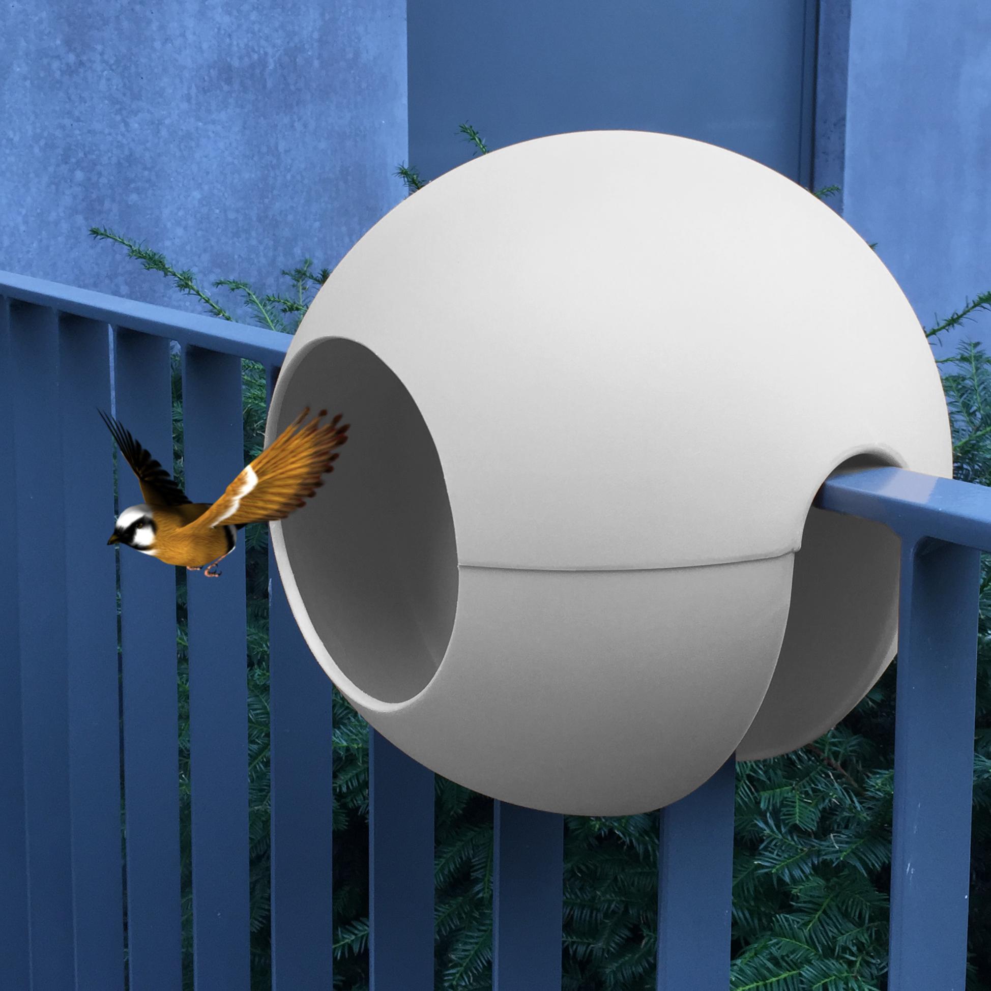birdball balkon vogelh uschen design f r den balkon. Black Bedroom Furniture Sets. Home Design Ideas