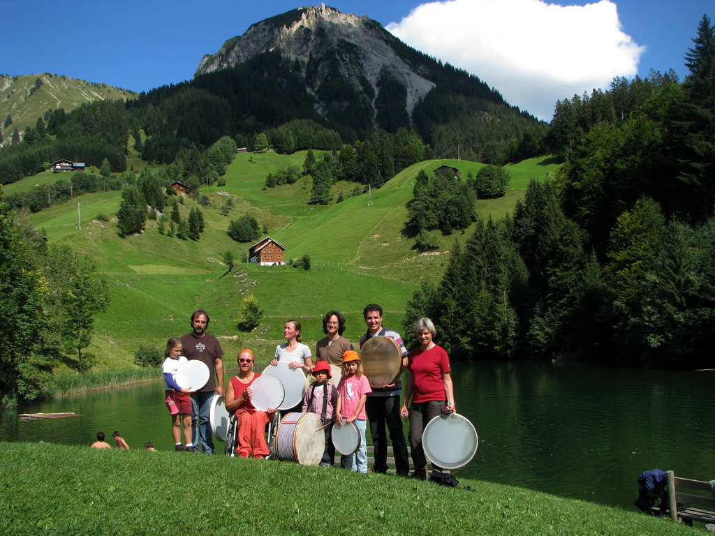 Trommelworkshap am Seewaldsee,FONTANELLA -AUSTRIA