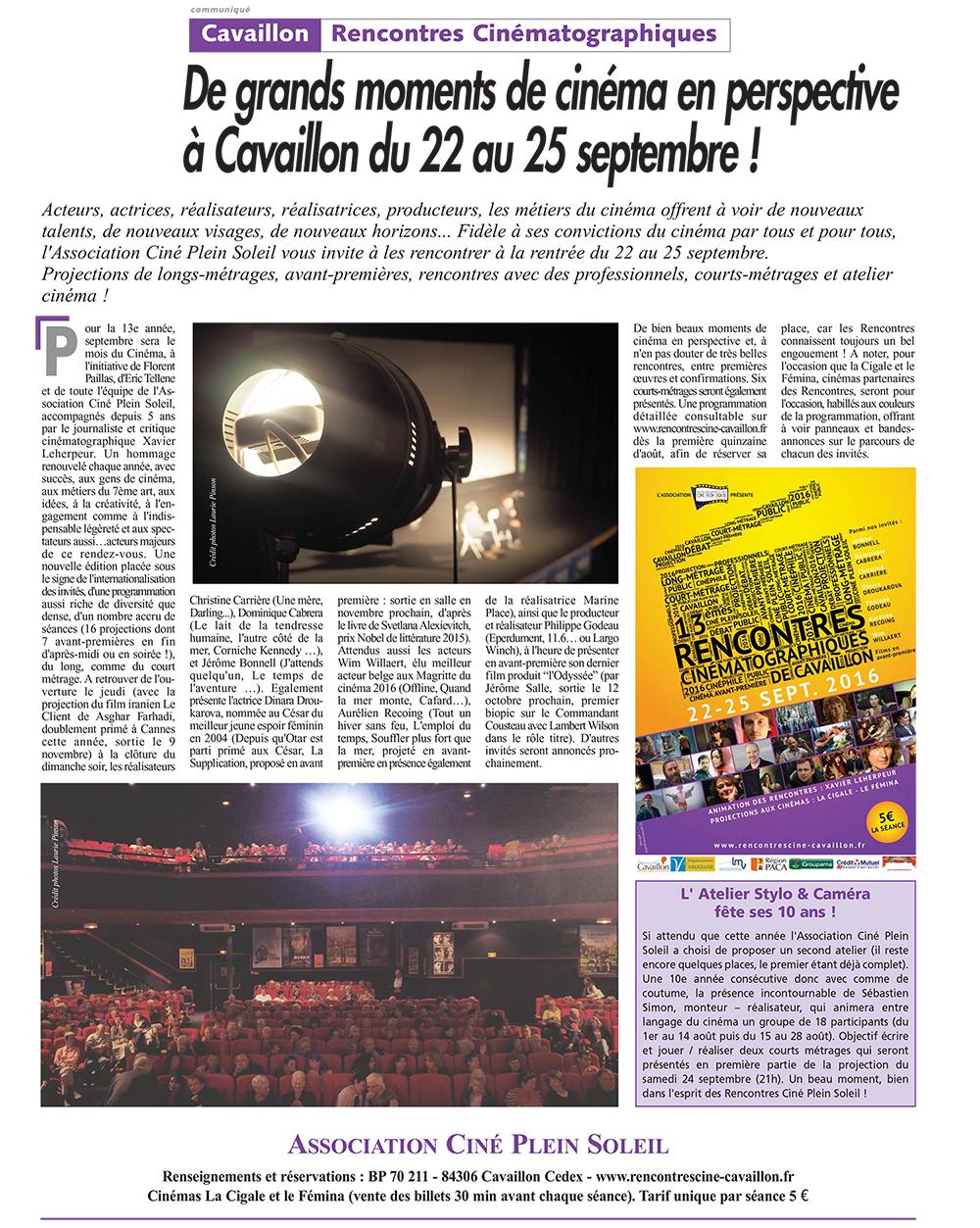 Journal du Luberon - Juillet 2016