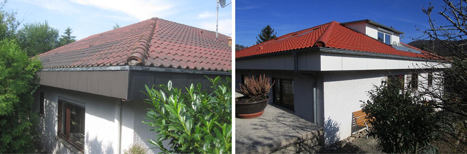 Einzelmaßnahme Dachsanierung und Dachgaube mit Loggia
