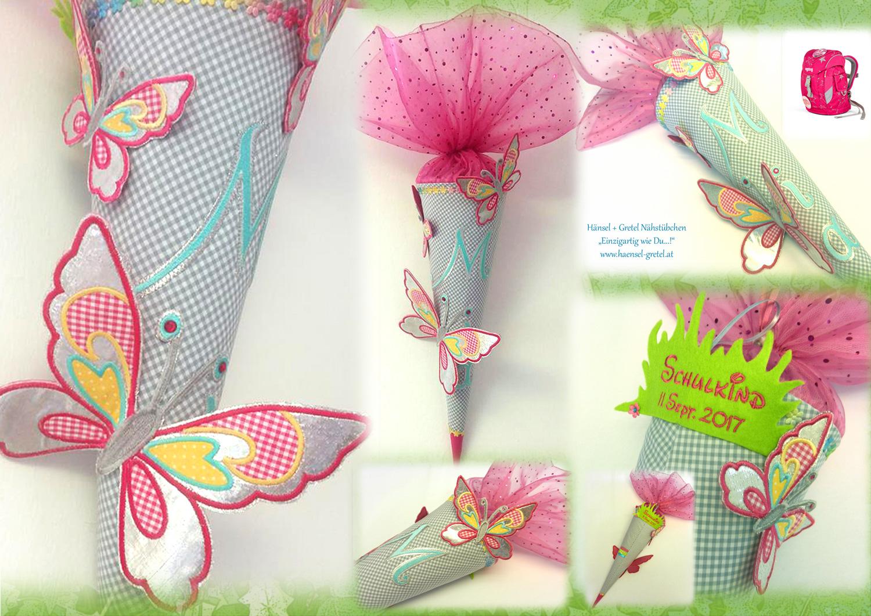 Schultüte Schmetterlinge