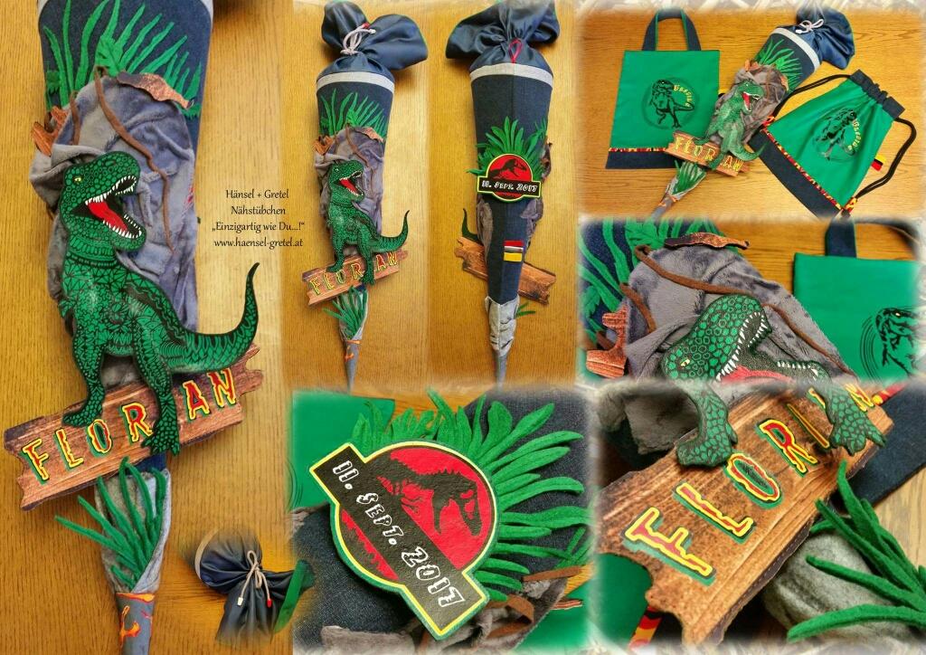 Schultüte T- Rex Dinosaurier Turnbeutel