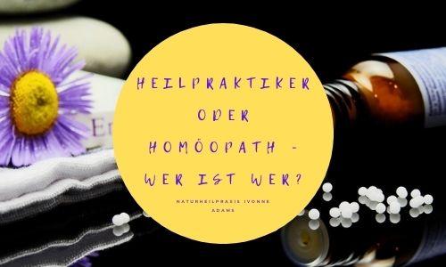Was ist der Unterschied zwischen einem Heilpraktiker und einem Homöopathen?