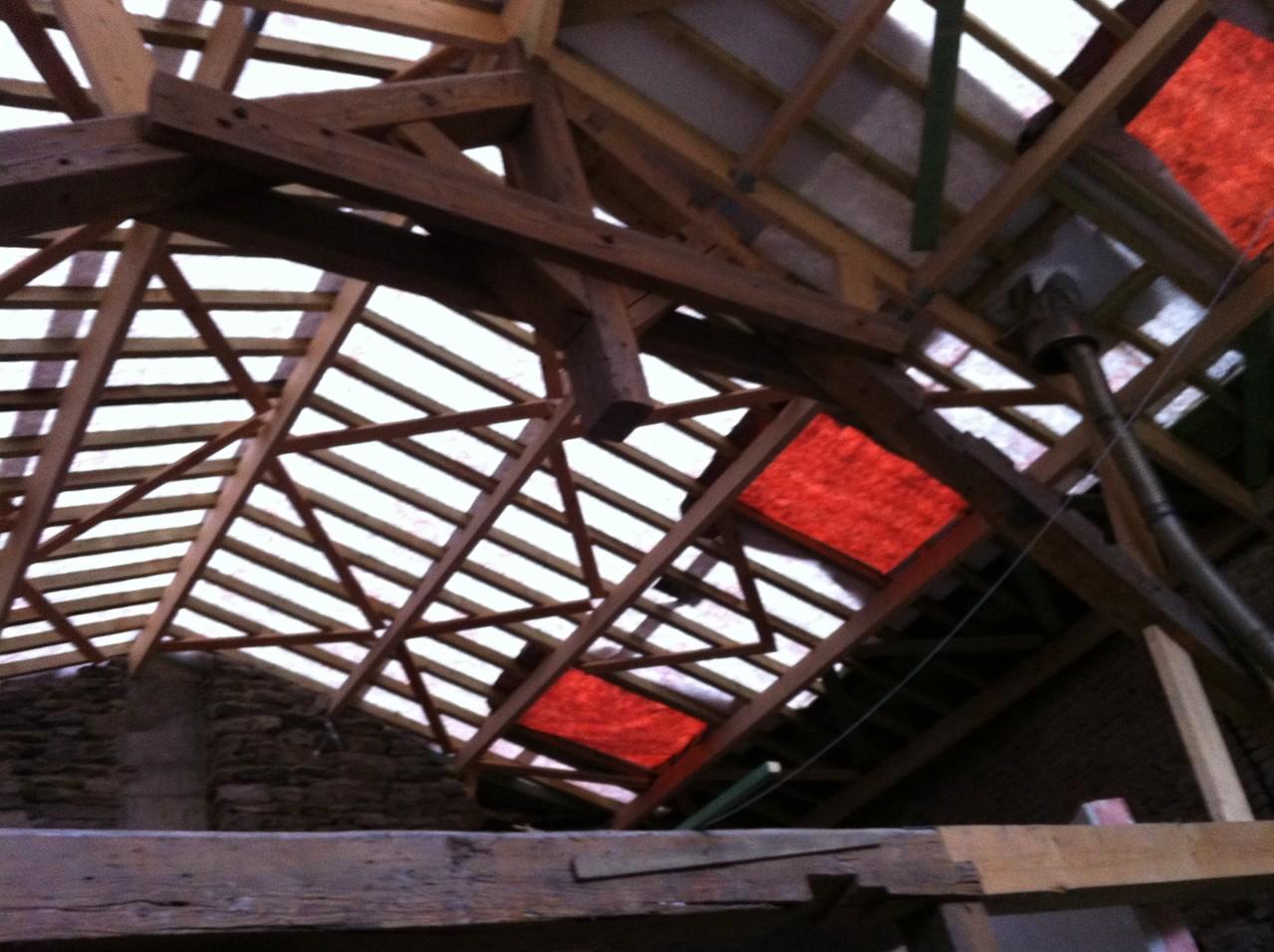 Démontage de la toiture
