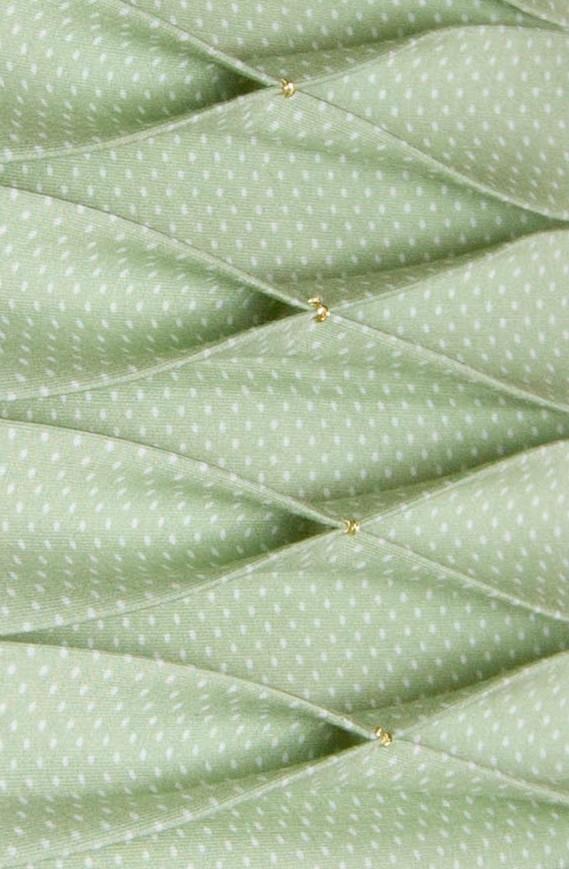 pleats, gold stitches, cotton, lampshade