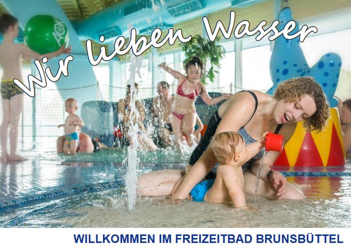 Flyer vom Freizeitbad in Brunsbüttel
