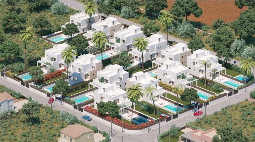 La Manzana de Cala Pi Homes entsteht auf einem flachen Meerblick Grundstück in Cala Pi auf Mallorca