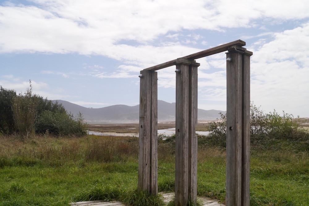 Praia de Carnota: Duschen in der Natur