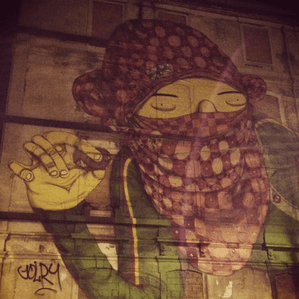 Streetart von Os Gemeos in Saldanha