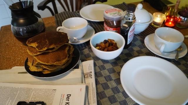 Kürbis-Pancakes: Wohl bekommt's!