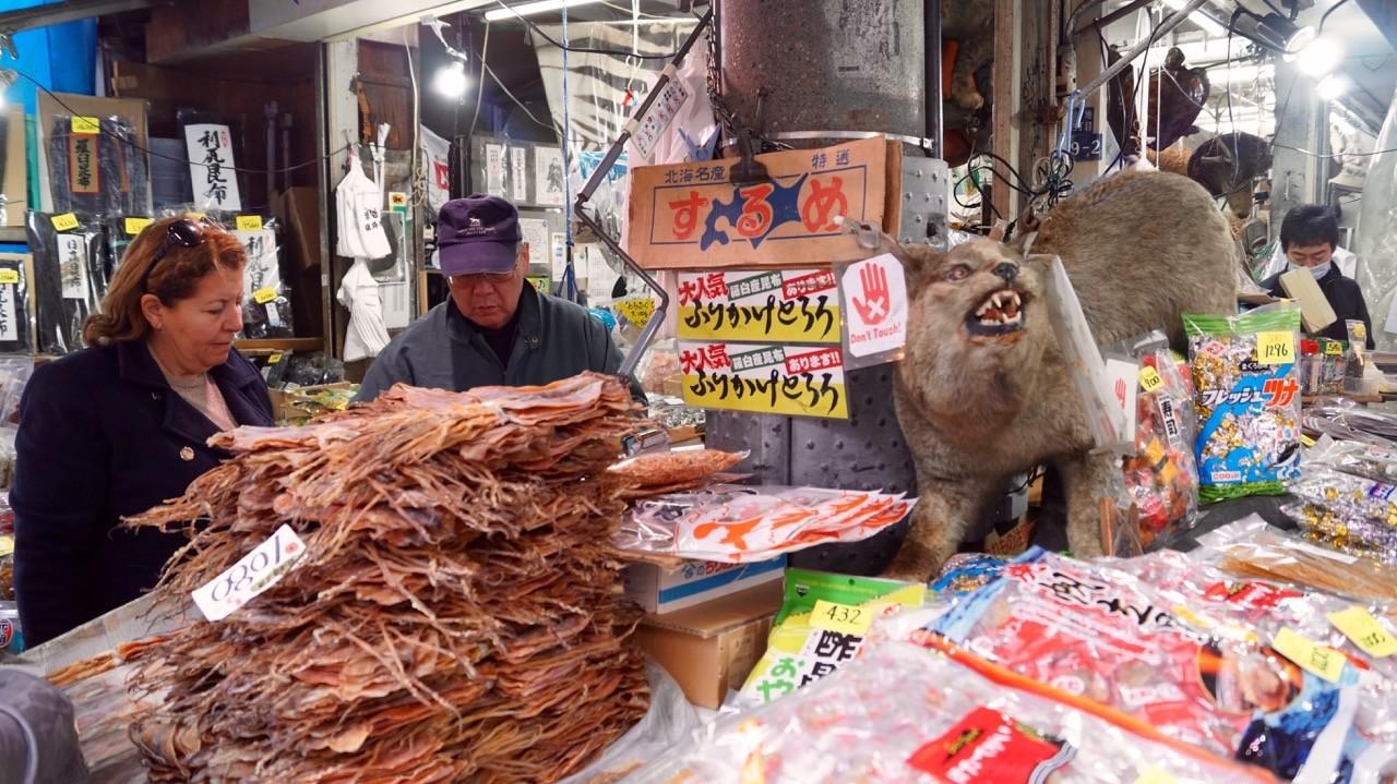 Der Tsukiji/Outer Market: Getrockneter Fisch.