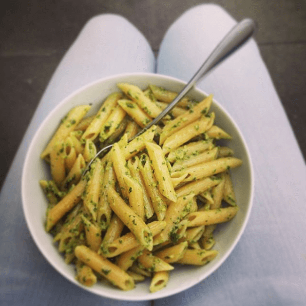 Penne mit Petersilien-Pesto