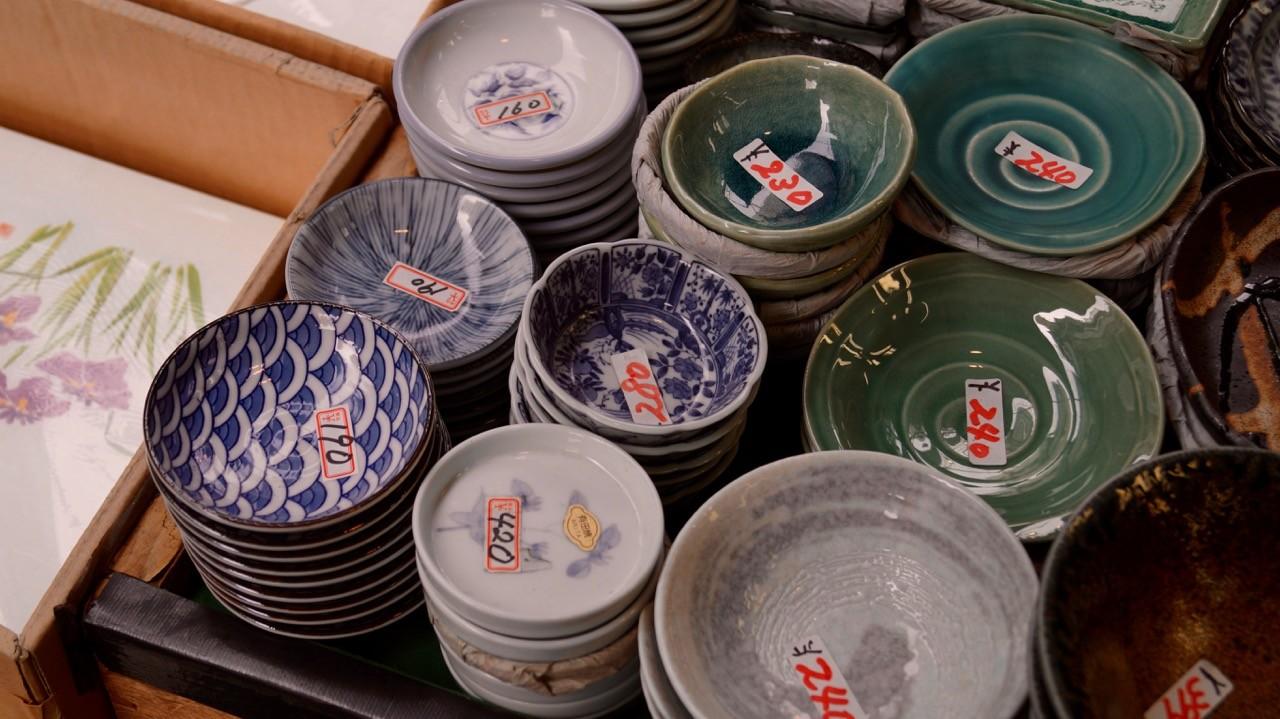 Der Tsukiji/Outer Market: Schüsseln!