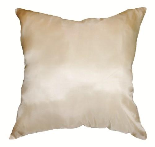 タイシルク(絹) クッションカバー 45cm×45cm リーフデザイン アイボリー ホワイト「白」 05 [タイ雑貨 アジアン インテリアグッズ ]