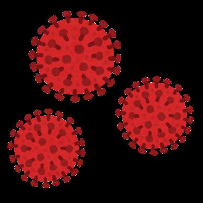 コロナウイルス(COVID-19 新型コロナウイルス感染症)のイラスト