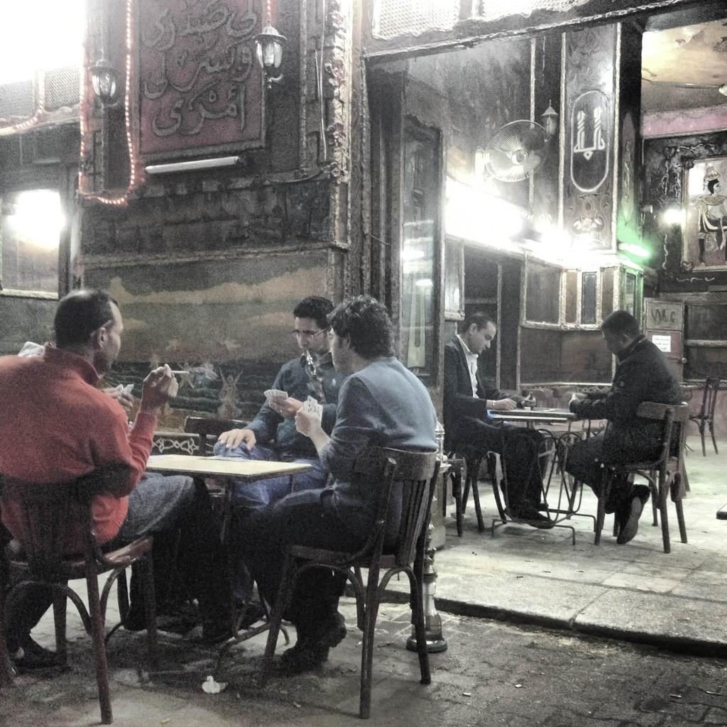 A café in Cairo © O.B.S.