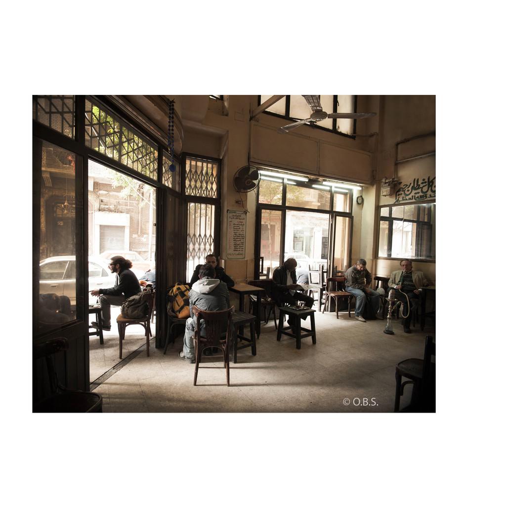 A café in Cairo, Egypt © O.B.S.