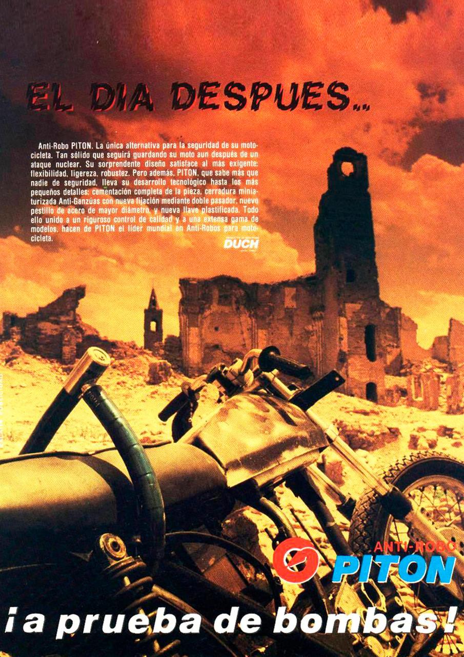Publicidad Pitón Original Duch - Año 1991