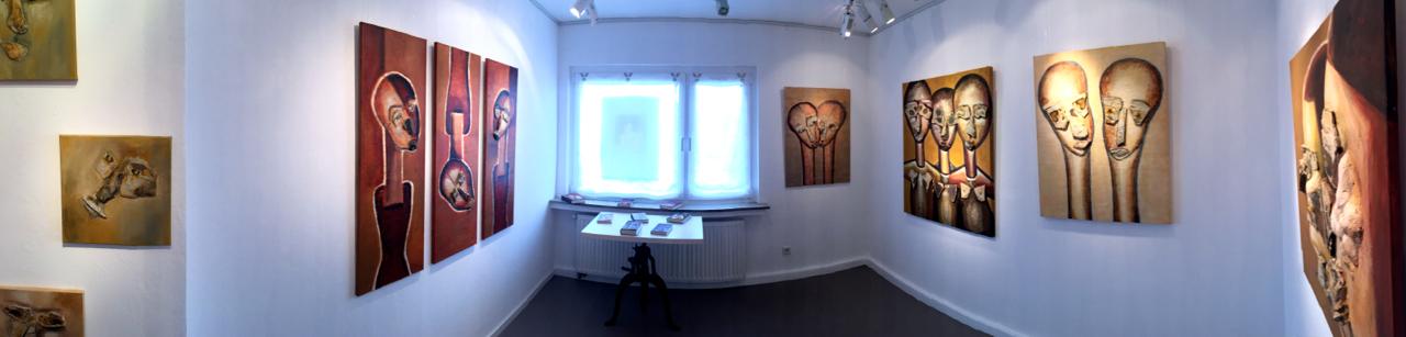 """Raum 3 Ausstellung """"Erdwächter"""" von J.H. BLOCK"""
