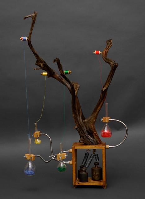 Die Abstraktion eines Farbfadenbaumes