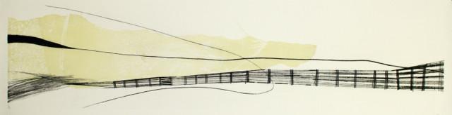 tOG No.06 - Tina Wohlfarth - Zwischen Zeit II 1 / 3, Mischtechnik, 35 x 140 cm, 2010
