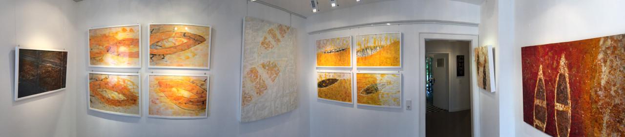 Raum 3: Rechte Seite mit Werken von Zsolt S. Deák