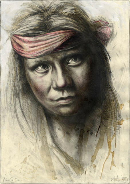"tOG-A.N.010-WVz.5004 ""Navaho Junge"" 2015 - 70 x 50 cm - Andreas Noßmann Künstler der tOG-Düsseldorf"