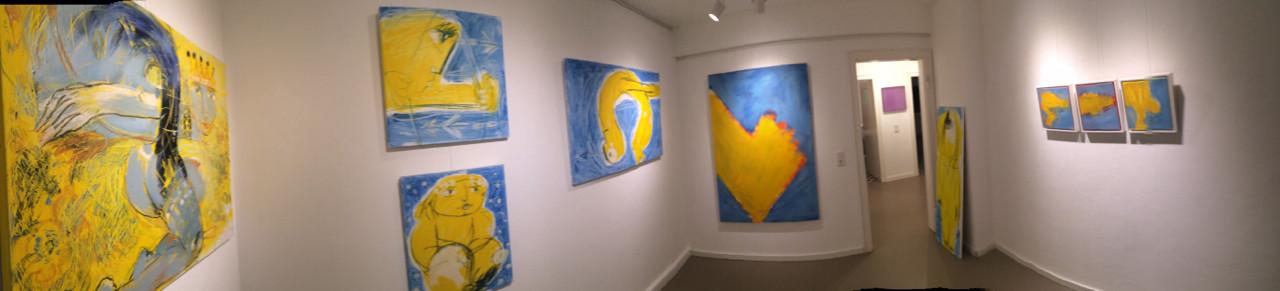 Raum 3 mit ausgewählten Arbeiten von Alina Atlantis aus ihrem Zyklus, Gipfelstürmer