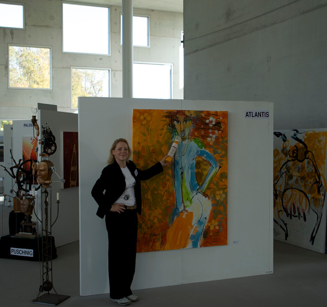 "Alina Atlantis beim ""Paint-Interview"""