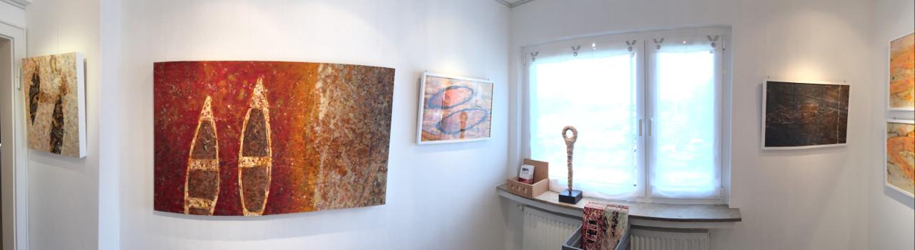 Raum 3: Linke Seite mit Werken von Zsolt S. Deák