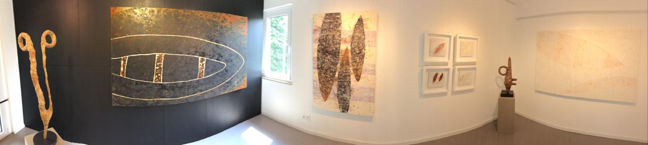 Raum1: Rechte Seite mit Werken von Zsolt S. Deák