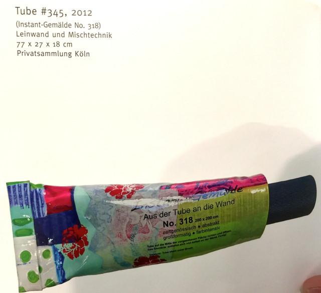 Und Barbara Storck-Brundrett wieder mit tollen Objekten vertreten. Diese Tube kann man manchmal in der tOG-Düsseldorf sehen.