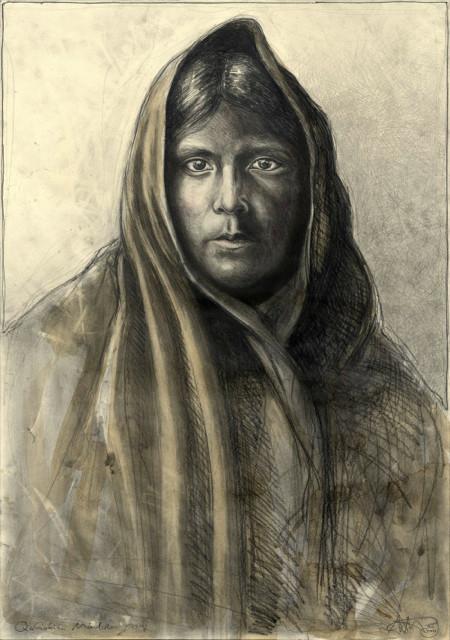 """tOG-A.N.004-WVz.4995  """"Qahátika Mädchen """" 2015 - 100 x 70 cm Andreas Noßmann Künstler der tOG-Düsseldorf"""