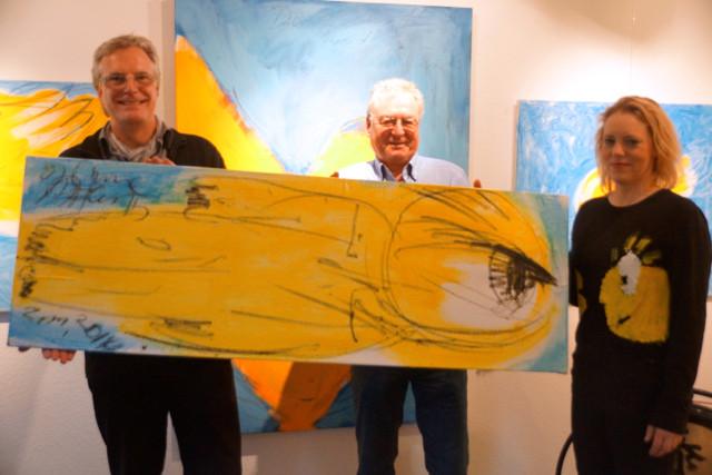 Das tOG-Team: Dirk Palder und Heinz Kehrer mit Alina Atlantis ...