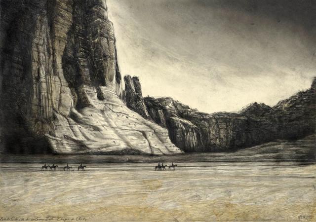"""tOG-A.N.008-WVz.5002  """"Auf der Suche nach der verlorenen Zeit - Canyon de Chelly"""" 2015 - 70 x 100 cm Andreas Noßmann Künstler der tOG-Düsseldorf"""