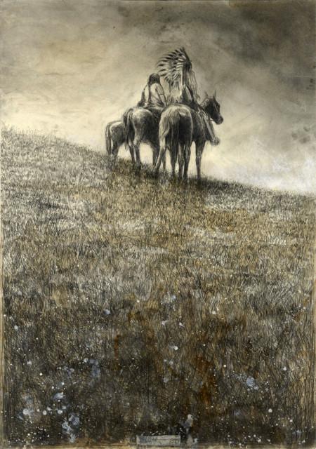 """tOG-A.N.006-WVz.5000  """"Cheyenne"""" 2015 - 100 x 70 cm Andreas Noßmann Künstler der tOG-Düsseldorf"""