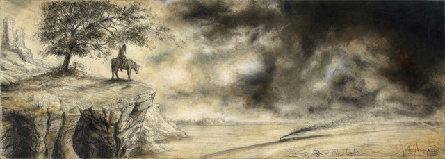 "tOG-A.N.020-WVz.5020  ""A Brave new World"" 2015 - 25 x 70 cm Andreas Noßmann Künstler der tOG-Düsseldorf"