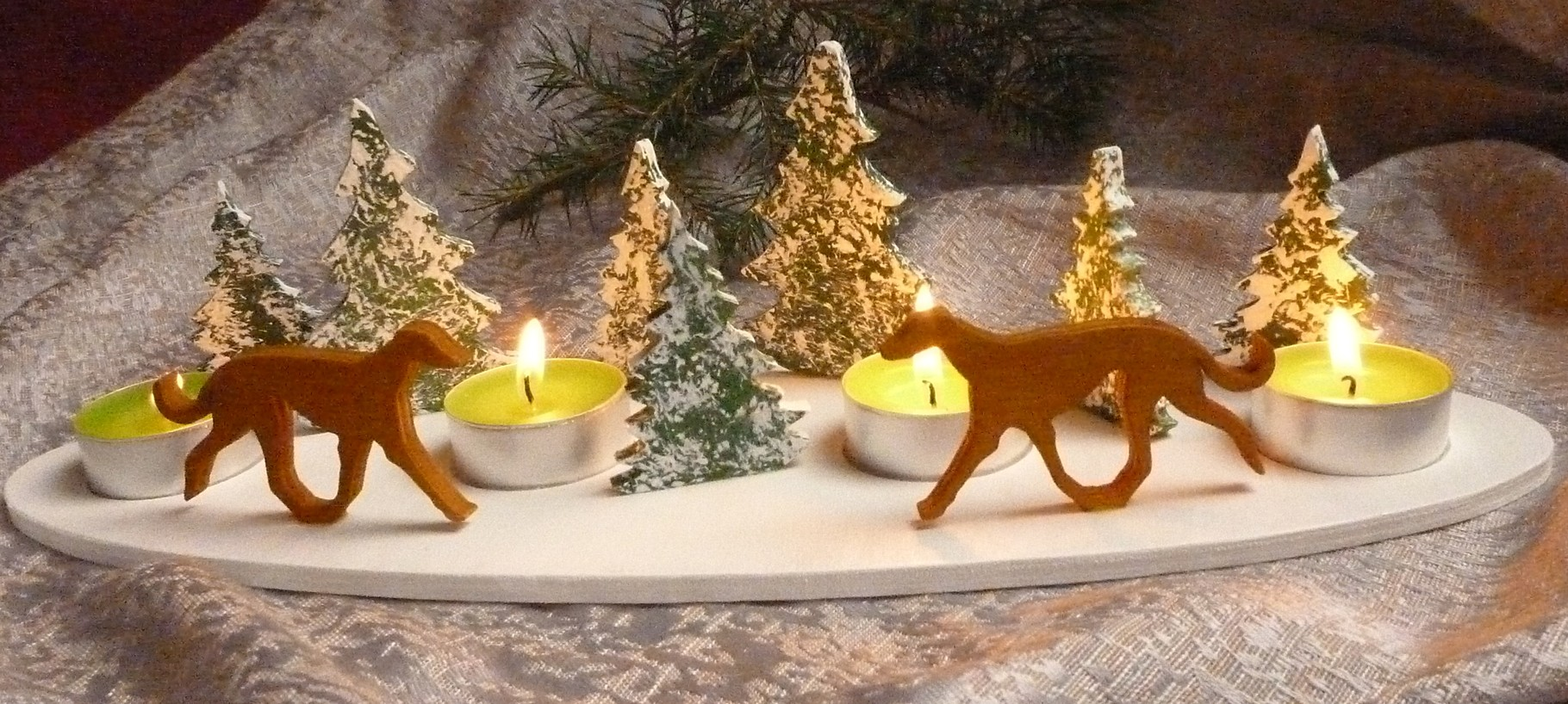 Teelichthalter Advent oval Galgo Espanol