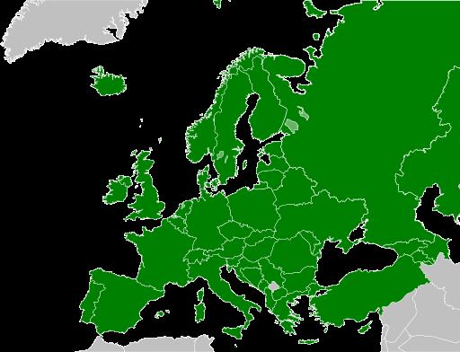 Bologna-Unterzeichnerstaaten (Stand 2015). Quelle: MacedonianBoy, Wikipedia