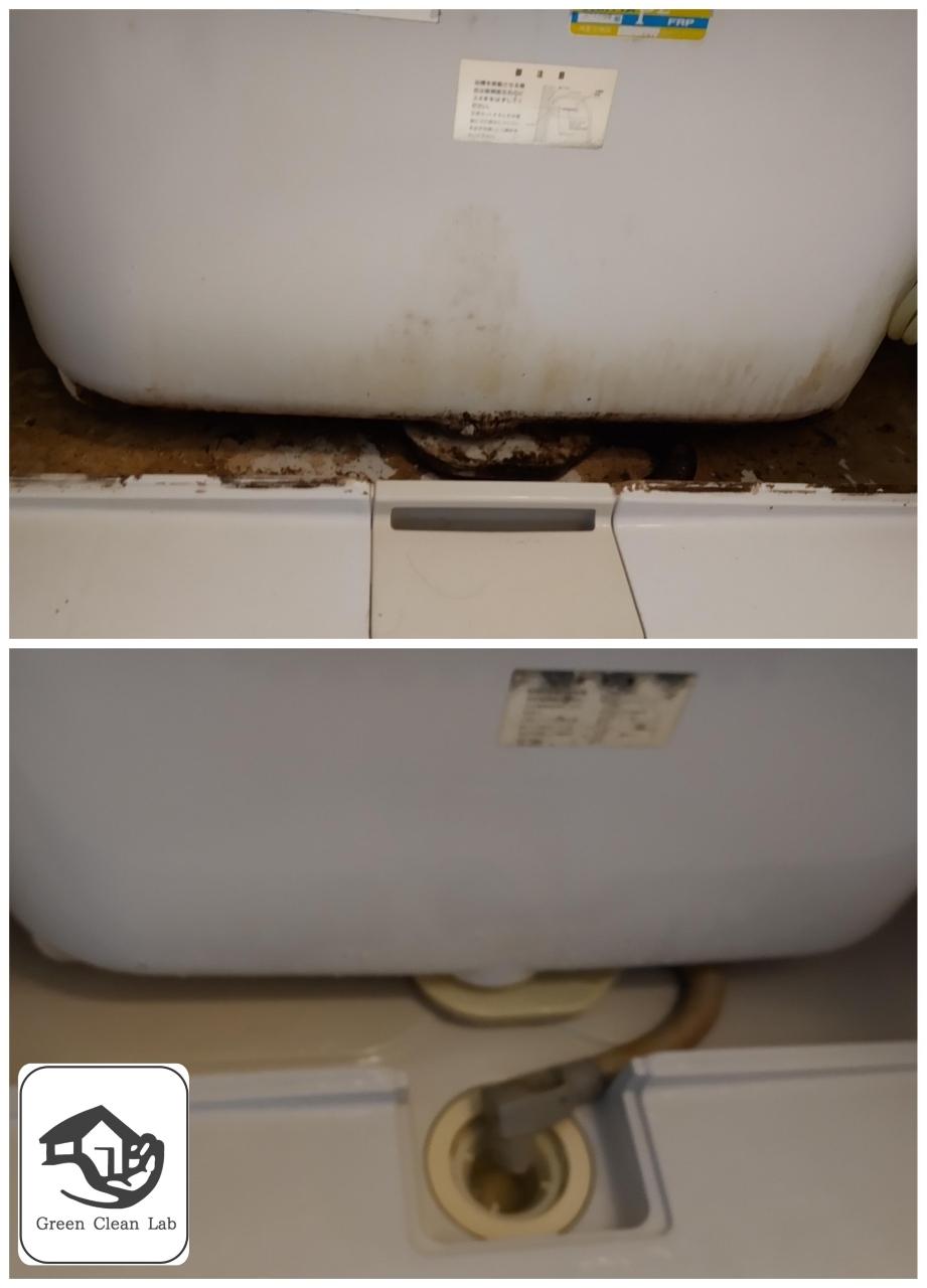 エプロン内部、排水口周辺の洗浄