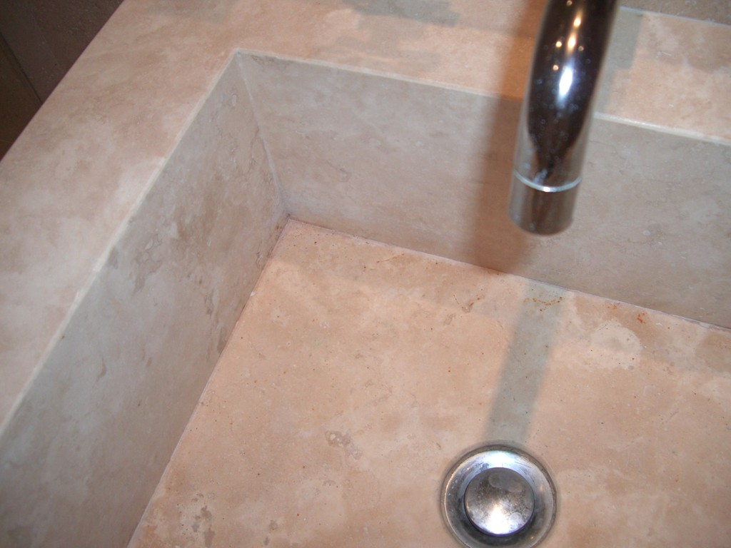 Travertine Homogeneous Vanity Detail