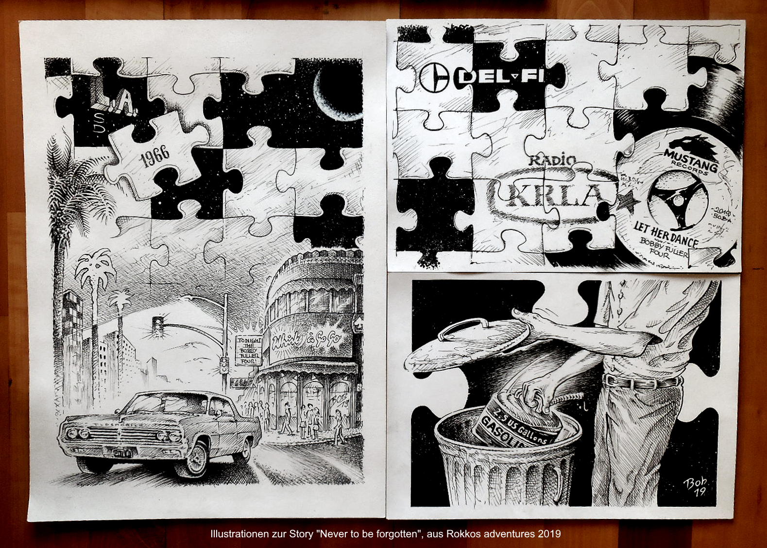 """Illustration """"Rokkos adventures""""-Mag 2019"""