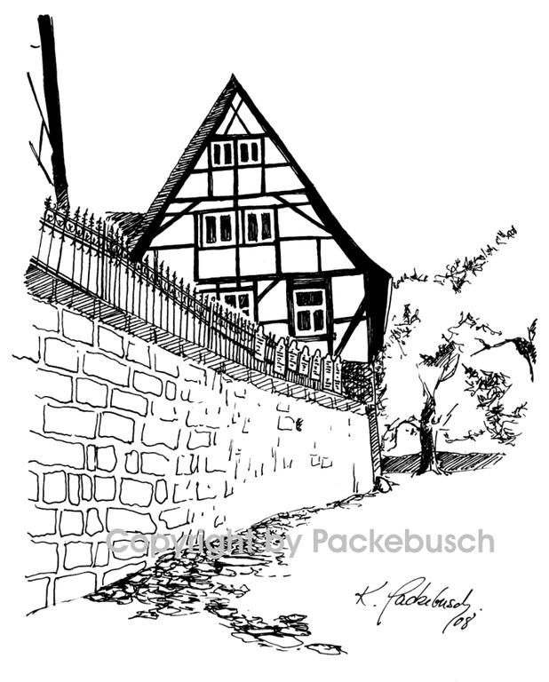 zum Schloßhof (Aufstieg zur Stiftskirche) in Quedlinburg