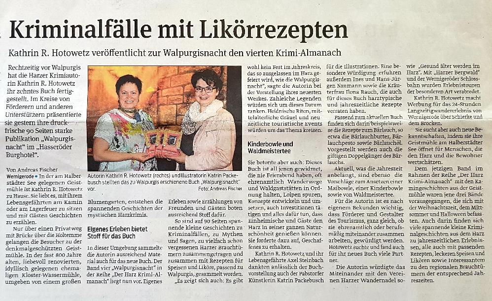 Harzer Volksstimme 30. April 2019