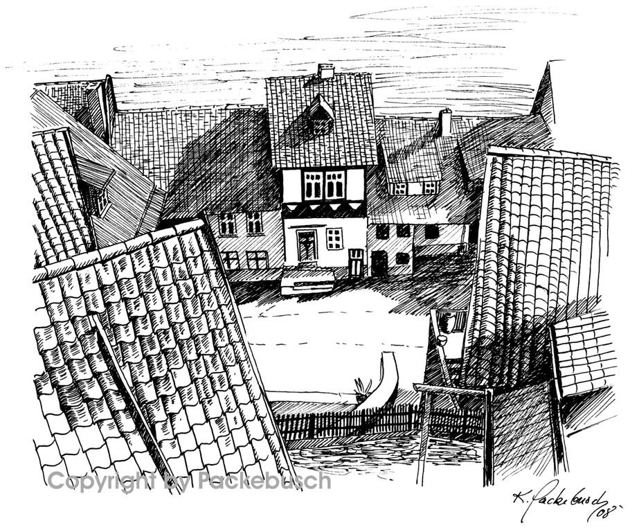 Blick vom Münzberg in Quedlinburg
